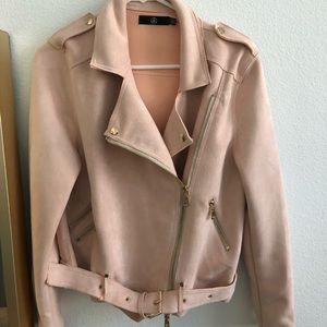 Suede pink Moto jacket